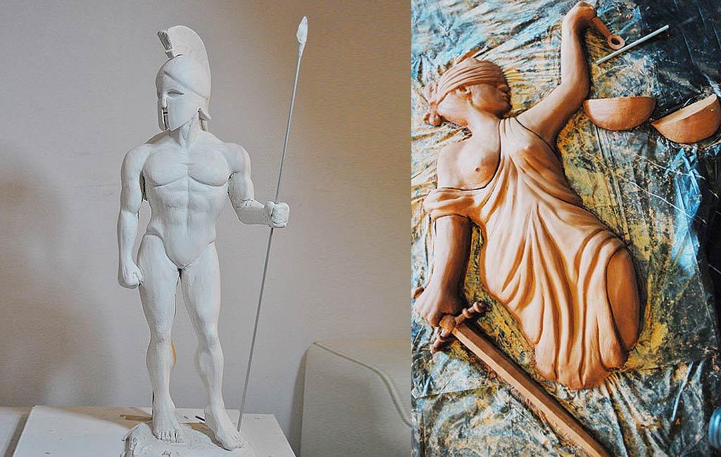Creación de esculturas y figuras en porex para ferias, stands y eventos comerciales de presentación de productos y empresas en Barcelona y España
