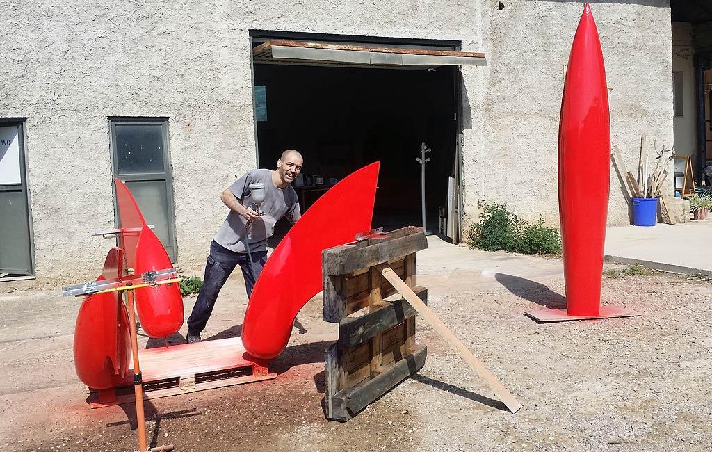 Proyecto escultura cohete tint n para decoraci n hogar en Esculturas decoracion
